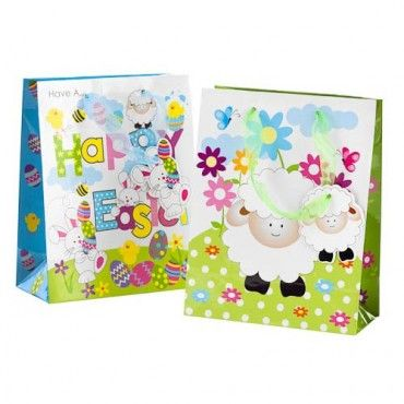Happy easter gift bags with tags twin pack easter gifts cards happy easter gift bags with tags twin pack easter gifts cards easter poundlandeaster poundland easter 2015 pinterest happy easter and easter negle Choice Image