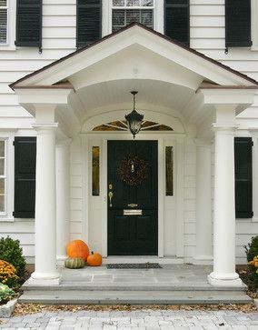 Front Porch Traditional Entry Philadelphia Lasley Brahaney - Colonial portico front entrance