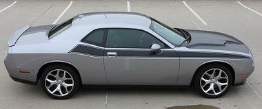 PURSUIT   Dodge Challenger RT Stripe Matte Black 3M 2011-2018 WET INSTALL