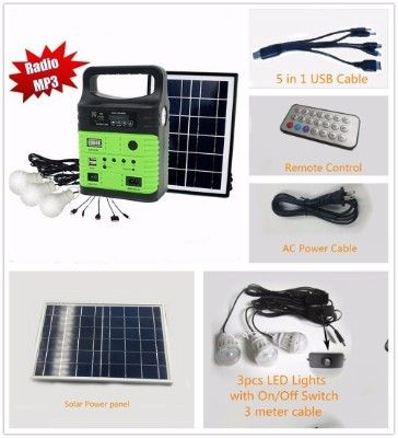 Wegner 10 Watt Solar Generator Portable Kit Solar Power Energy Solar Power Panels Solar Power Diy