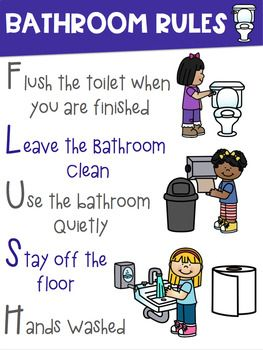 Bathroom Rules Poster ~BOYS and GIRLS signs included