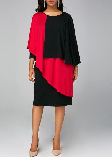d2a483f0109 Black Lace Panel Sleeveless High Low Dress
