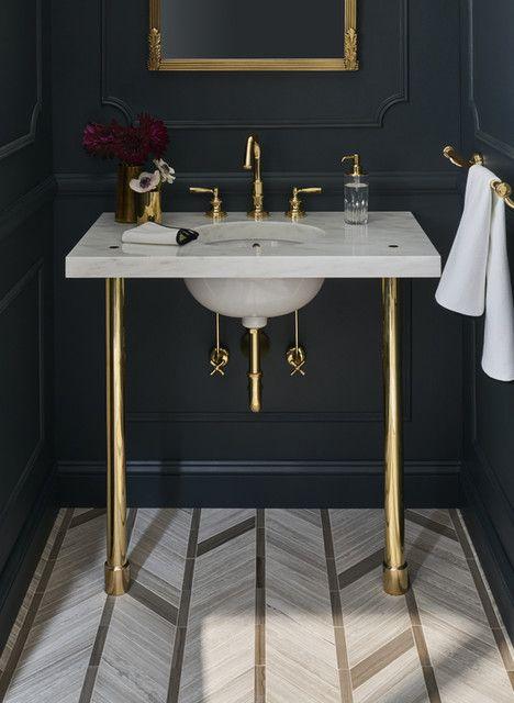 Opus Metal Round Single Two Leg Washstand 2 1 2 X 2 1 2 X 32 1 4 Bathroom Decor Powder Room Sink Modern Master Bathroom