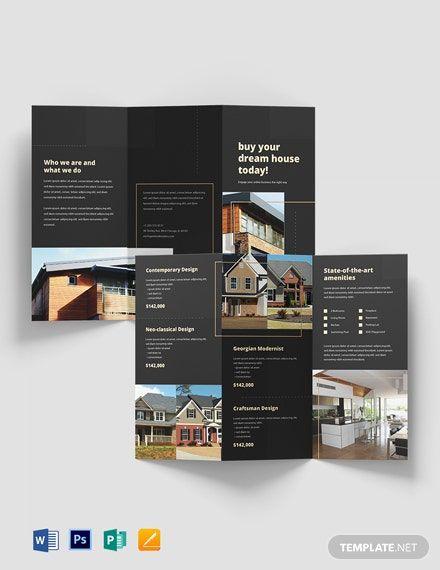 Construction Marketing Bi Fold Brochure Template Free Publisher Google Docs Illustrator Indesign Word Apple Pages Psd Template Net In 2021 Bi Fold Brochure Trifold Brochure Brochure