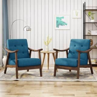 Chabani Mid Century Modern Accent Chairs Set Of 2 By Chirstopher Kni Mid Century Modern Accent Chairs Living Room Chairs Modern Modern Accent Chair