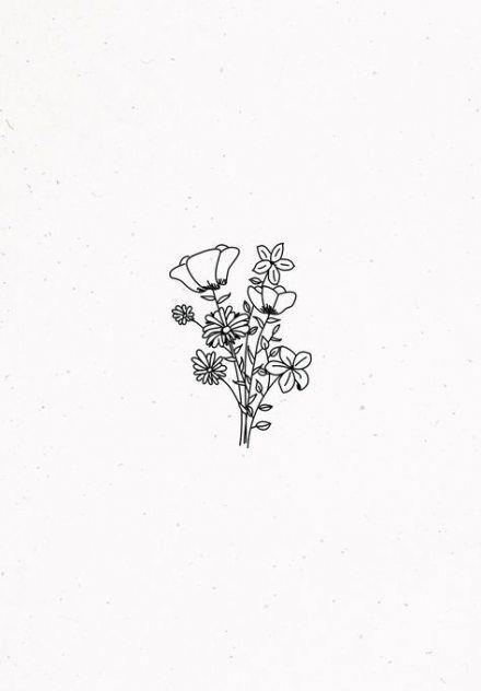 87fa27c90f249564580fd86393aea290 » Aesthetic Flower Drawing