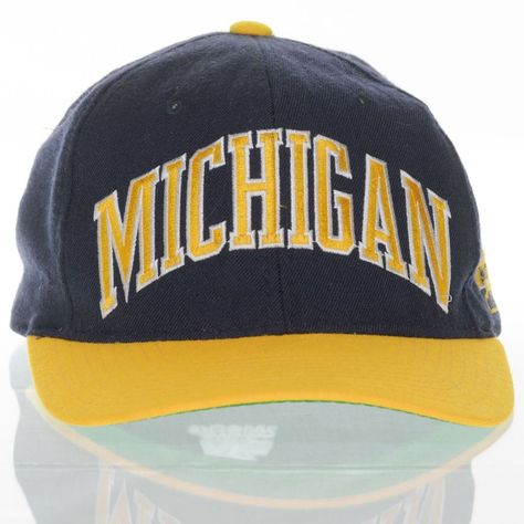 more photos 304ee 7e01f Michigan Wolverines Vintage Starter Hat Fitted 7 3 8 The Natural 100% Wool  NCAA