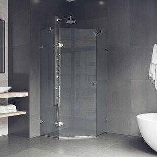 Vigo Verona 36 13 W X 73 38 H Neo Angle Hinged Shower Enclosure Wayfair
