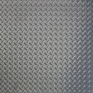 Rubber Cal Inc Diamond Plate Garage Flooring Roll In Black In 2020 G Floor Garage Floor Tiles Garage Floor Mats