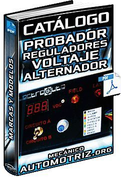 Catalogo De Probadores De Reguladores De Voltaje Del Alternador