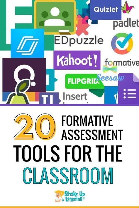 In this post, you will find 20 Formative Assessment Tools for Your Classroom! Formative assessment is such an essential Formative Assessment Strategies, Teaching Strategies, Literacy Assessment, Teaching Ideas, Teaching Technology, Educational Technology, Instructional Technology, Instructional Strategies, 1