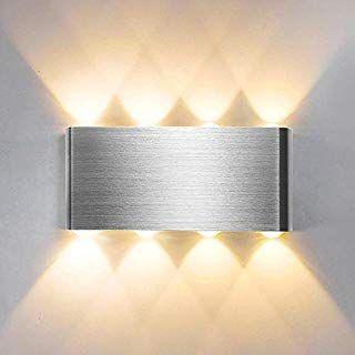 Wandleuchte Erik Wandspot 1-flammig 33 Watt Wandstrahler mit Lichteffekt 1 x G9 max Wandlampe aus Metall in Aluminium LED geeignet