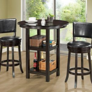 Kitchen High Table With Storage Tall Kitchen Table Kitchen Table Settings Small Space Dining Set