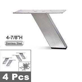 Stainless Steel Metal Sofa Legs Furniture Legs Angled Design