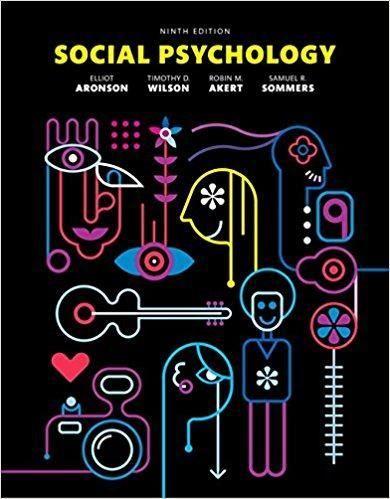 Social Psychology 9th Edition PDF Version Digital Book