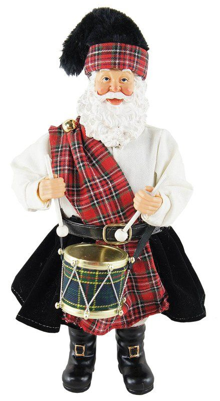 Scottish Drummer Santa