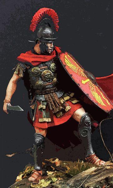 Roman Soldier Painting Portrait Of A Roman Legionary 09 By Andrea Mazzocchetti Roman Soldiers Roman Warriors Roman Armor