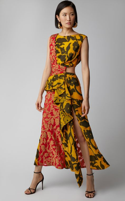 Shar Cutout Midi Dress by PRABAL GURUNG Now Available on Moda Operandi