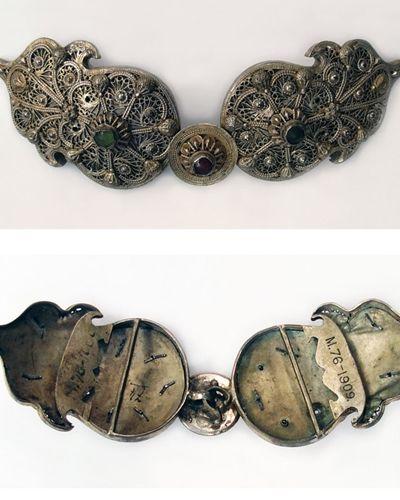 Ottoman Folk COSTUMES Antique Silver Ornaments Jewelrys Buckles Photo Album BOOK