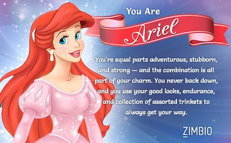 Which Disney Princess are you? --- I can guess most of these quizzes before taking them. But it's still tons of fun :D