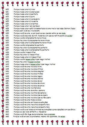 732 Motivos Para Te Amar Com Imagens Palavras Para Namorada