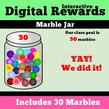 Marble Jar Digital Reward Whole Class By Vipkid Teacher Erin Teachers Pay Teachers Class Incentives Marble Jar Student Incentives