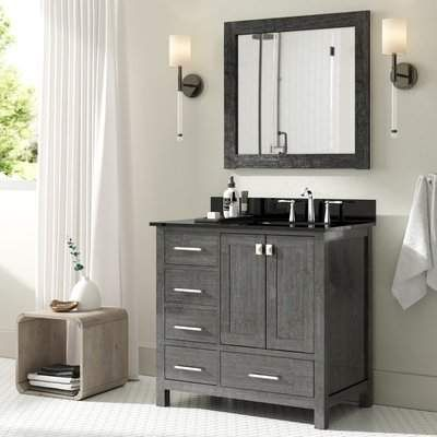 Wrought Studio Fridley 35 Single Bathroom Vanity Set With Mirror Wrought Studio In 2019 Bathroom Sink Vanity Single Bathroom Vanity Single Sink Bathroom Vanity