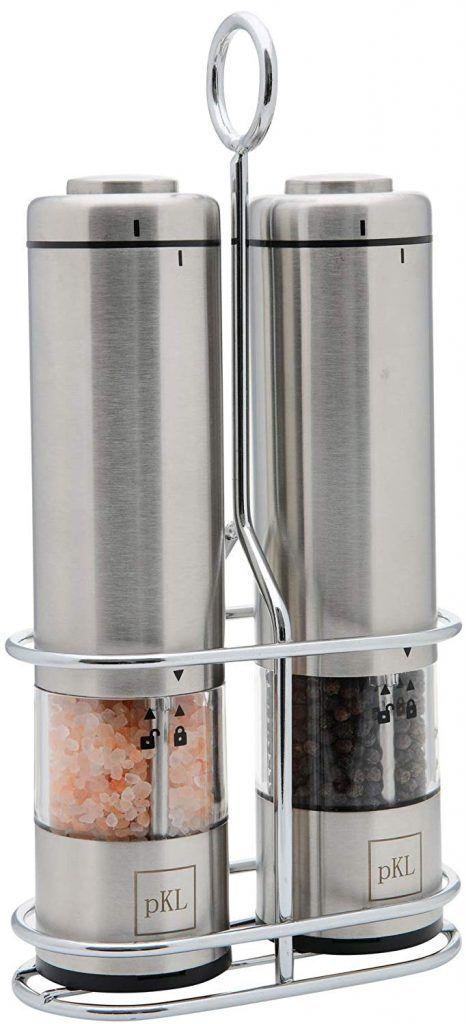 5 Pro Kitchen Life Battery Operated Salt And Pepper Electric Grinder Set Salt Led Lights Battery Operated
