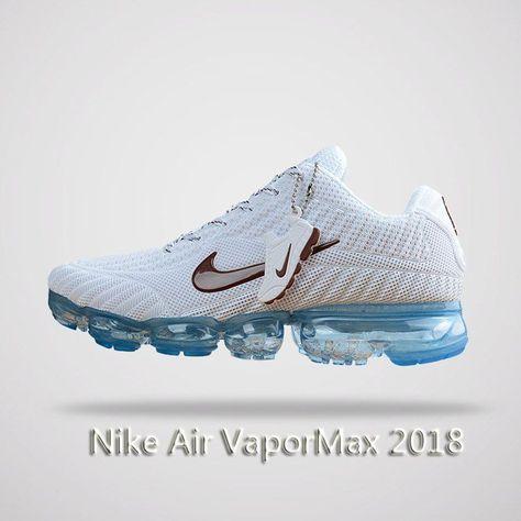 innovative design c6c6c 09778 Nike Air Vapormax 2018 Men Running Shoes White Blue
