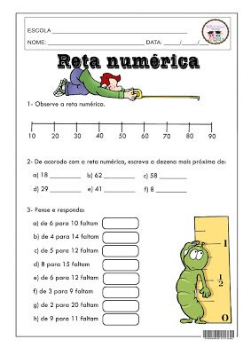 Reta Numerica Com Imagens Atividades De Matematica Divertidas