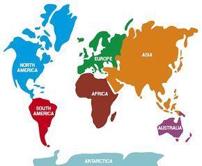 Sieben Kontinente Wasistwas Geographie Fur Kinder Karten Kinder