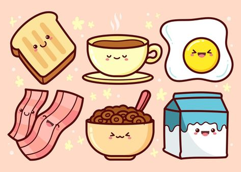 Download Hand Drawn Breakfast Food Collection for free