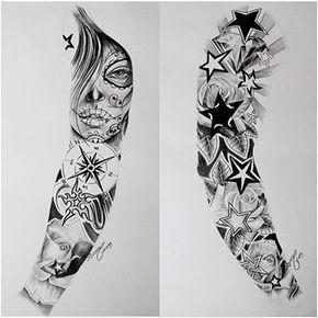 Tatuajes Para Todo El Brazo Completo Tribales En Hombres Sleeve Tattoos Tattoo Sleeve Designs Full Arm Tattoos