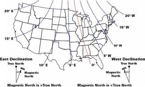Map Of Magnetic Declination In The United States Quick Question - Magnetic declination map us
