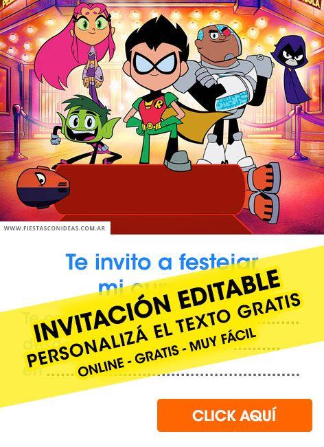 Tarjeta De Cumpleaños De Jóvenes Titanes En Acción En 2020