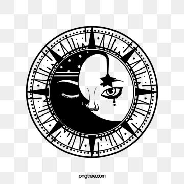 Sun Moon Black Personality Tattoo Tattoo Sunlight Moon Png Transparent Clipart Image And Psd File For Free Download In 2020 Black Social Media Icons Sun Background Psd
