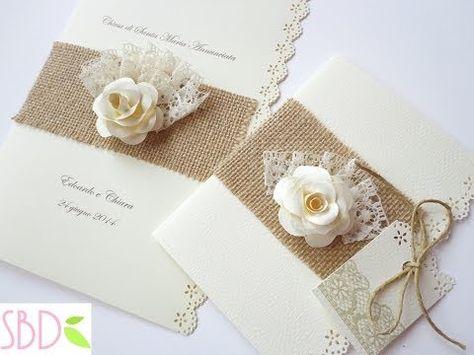 Partecipazioni Matrimonio Youtube.Diy Rustic Bohemian Wedding Invitations Youtube Inviti Di