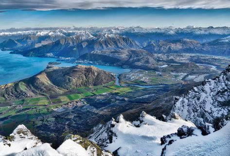 Here's what it looks like when you get to the top of the Remarkables and look back towards Queenstown. Beautiful, eh? It was almost impossible getting up here… I was so tired, and I had even taken a snowmobile most of the way up. Drudging up a mountain through knee deep snow much be one of the most taxing activities in the world! #TreyRatcliff #NewZealand #Climb #Mountain #Queenstown #Landscape