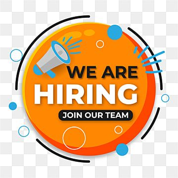 We Are Hiring Design For Job Recruitment With Geometric Style Recruit Position Candidate Png And Vector With Transparent Background For Free Download We Are Hiring Creative Jobs Background Design