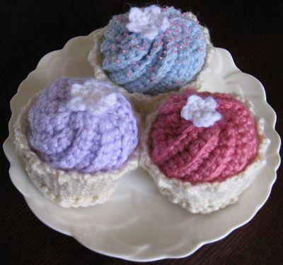 Cupcake Crochet Pattern Free Image Collections Knitting Patterns