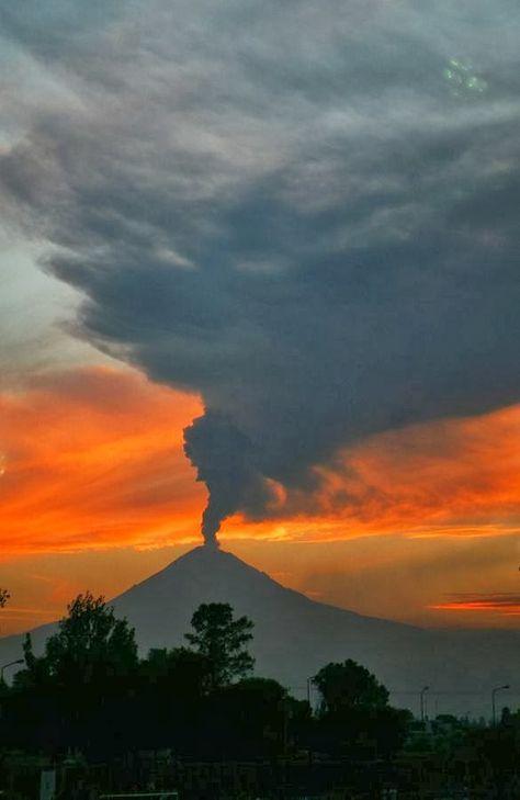 Volcano At Sunset, Mexico (MX)