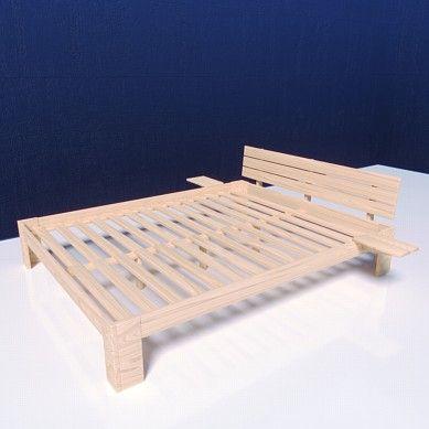 Mss Holzbett Duo Doppelbett Bettgestell Bett Inkl Lattenrost Und Nachttisch Bettgestell Bett Und Holzbett