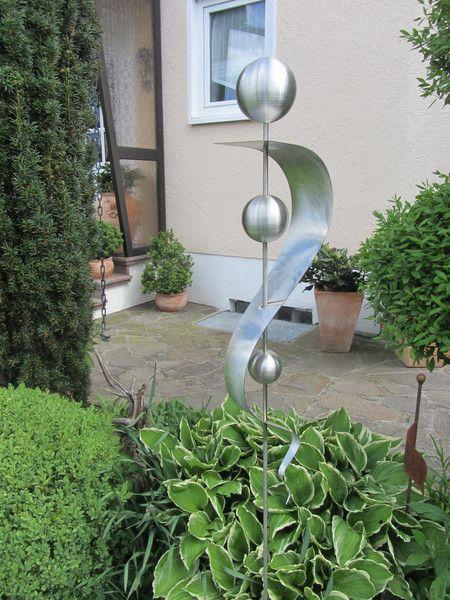 Stele Edelstahl Rost Skulptur Garten Rostfrei 27 Etsy Skulpturen Garten Garten Gartendekoration