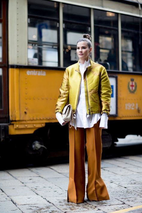 Oversize Trousers - The Street Style at Milan Fashion Week Was Seriously Chic - Photos