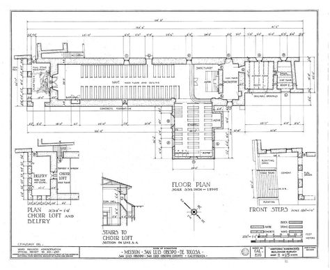 Architectural Drawings California Missions Resource Center California Missions Floor Plan Drawing California Missions Project