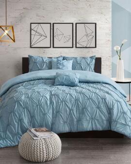 Incredible 5 Piece Kennedy Tufted Comforter Set Diy Decorating In Customarchery Wood Chair Design Ideas Customarcherynet