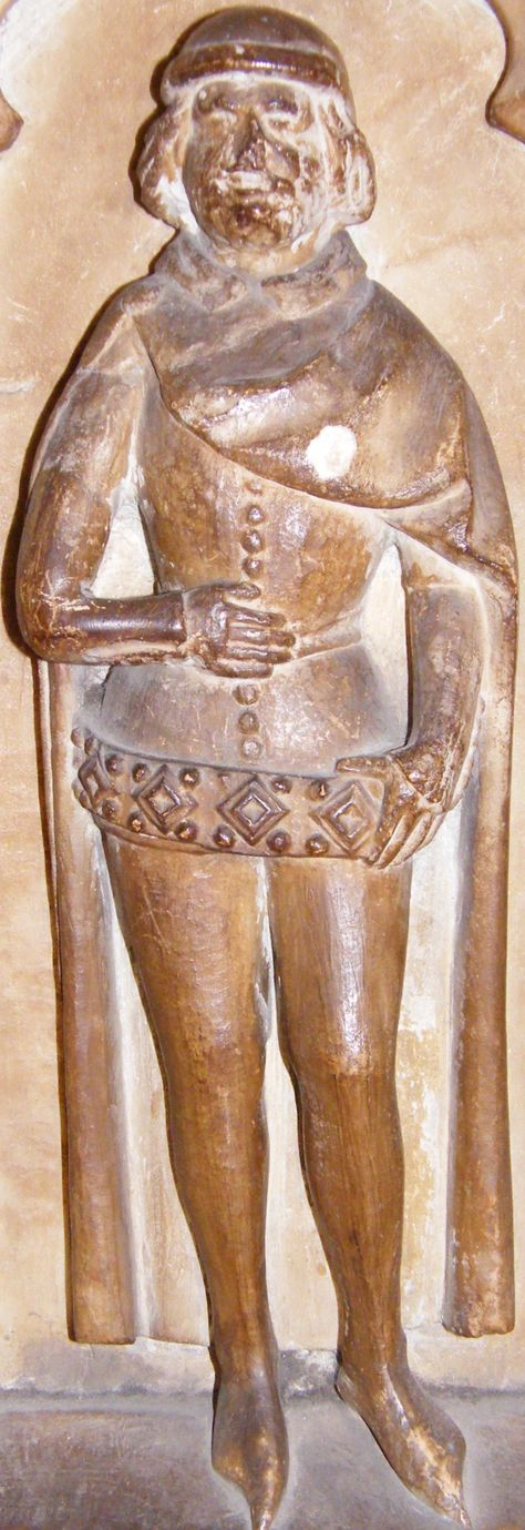 Warwick - St Mary. Thomas Beauchamp (and wife Katherine) 1369. Nice big belt!