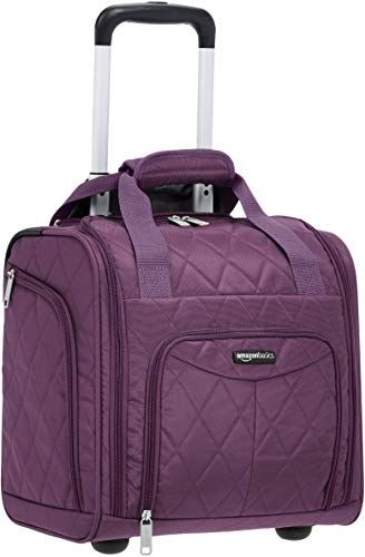 Meetbelify Wheeled Luggage Rolling Duffle Trolley Bag Travel Bag,Purple