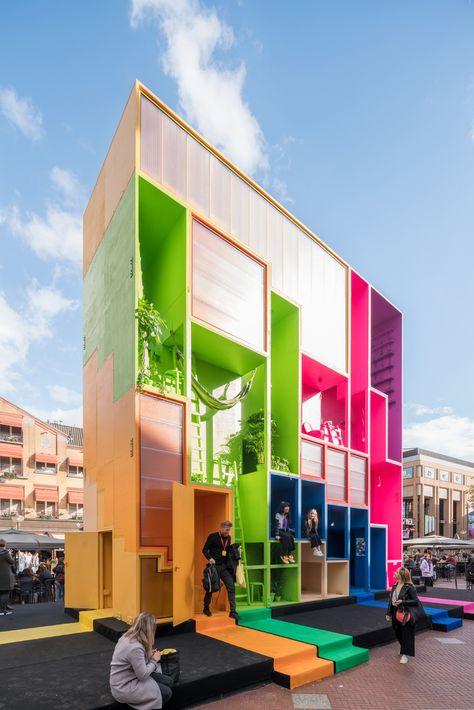 Galeria de MVRDV projeta hotel colorido em forma de tetris para a Dutch Design Week 2017 - 10