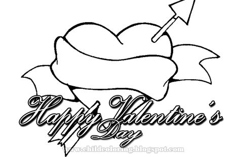 Happy Valentine S Day Coloring Heart Coloring Pages Love